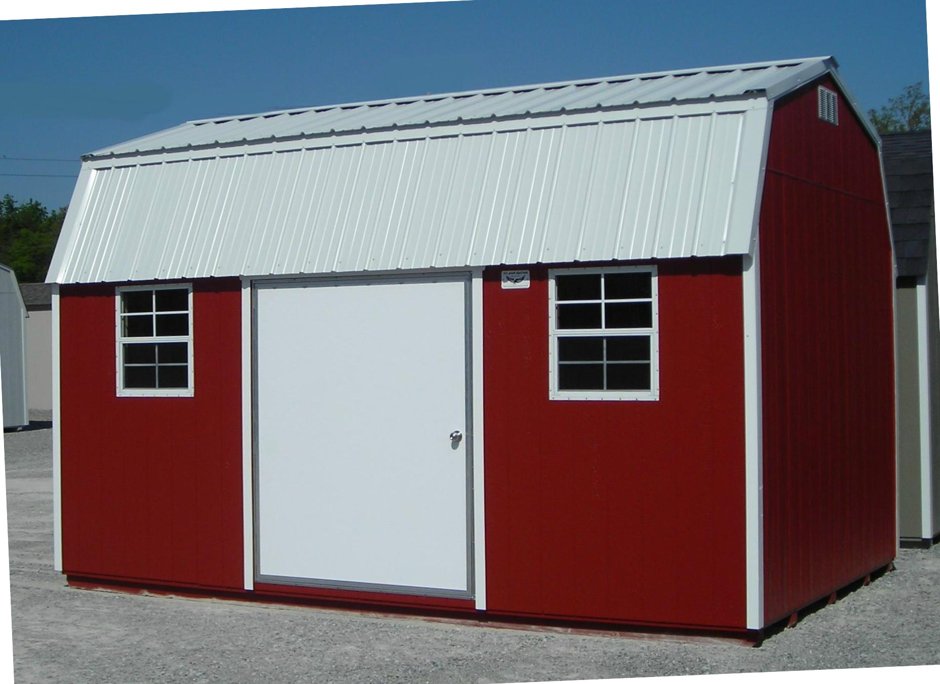 Metal roof metal roof storage shed for Barn storage shed