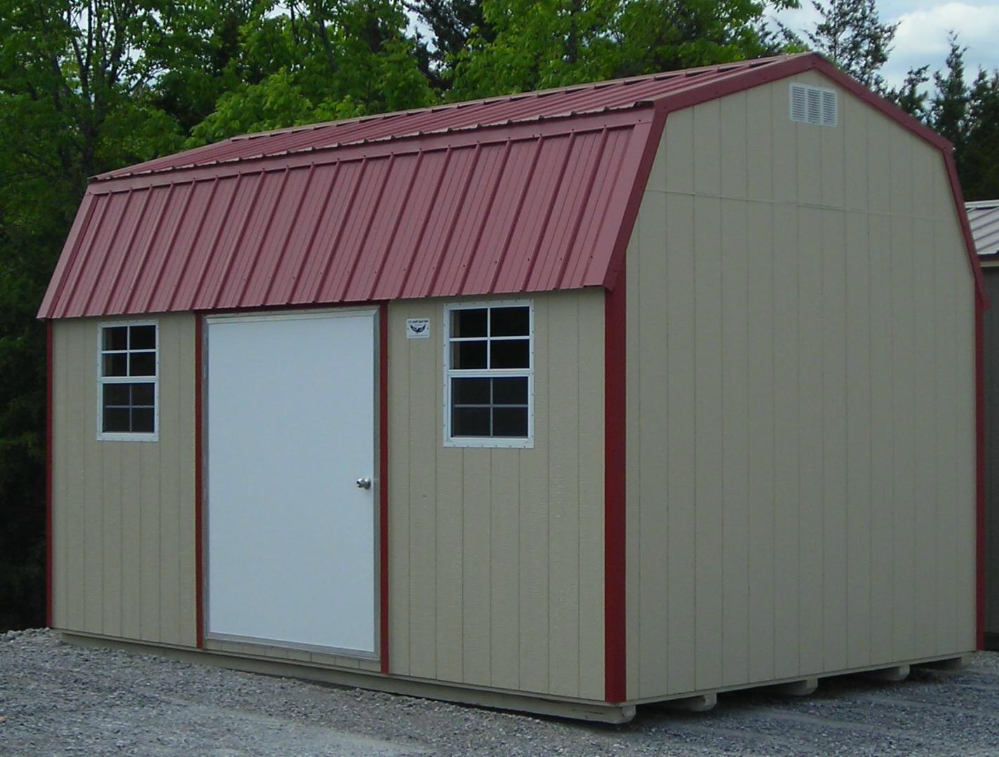 Metal roof storage sheds metal roof for Pinckney garage door